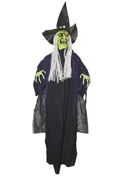 Animated Hanging Witch Prop Decoration