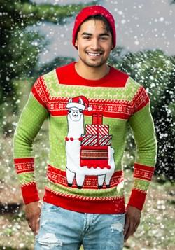 Adult Christmas Llama Unisex Ugly Sweater