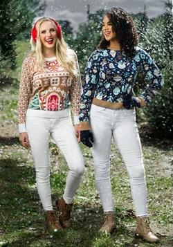 Womens Christmas Tree Ornaments Ugly Sweater alt6