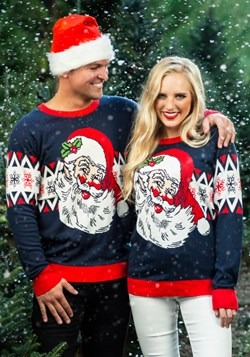 Adult Vintage Santa Unisex Ugly Christmas Sweater 1