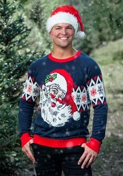Adult Vintage Santa Unisex Ugly Christmas Sweater alt1