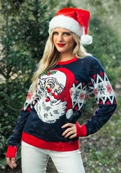 Adult Vintage Santa Unisex Ugly Christmas Sweater alt2