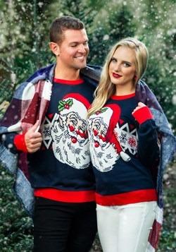 Adult Vintage Santa Unisex Ugly Christmas Sweater alt3