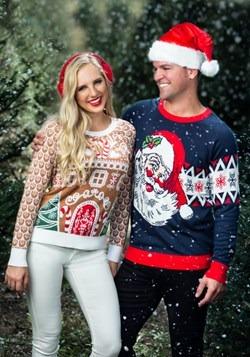 Adult Vintage Santa Unisex Ugly Christmas Sweater alt4