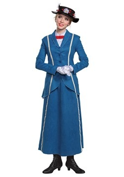 Disney Mary Poppins Women's Mary Poppins Blue Coat Costume