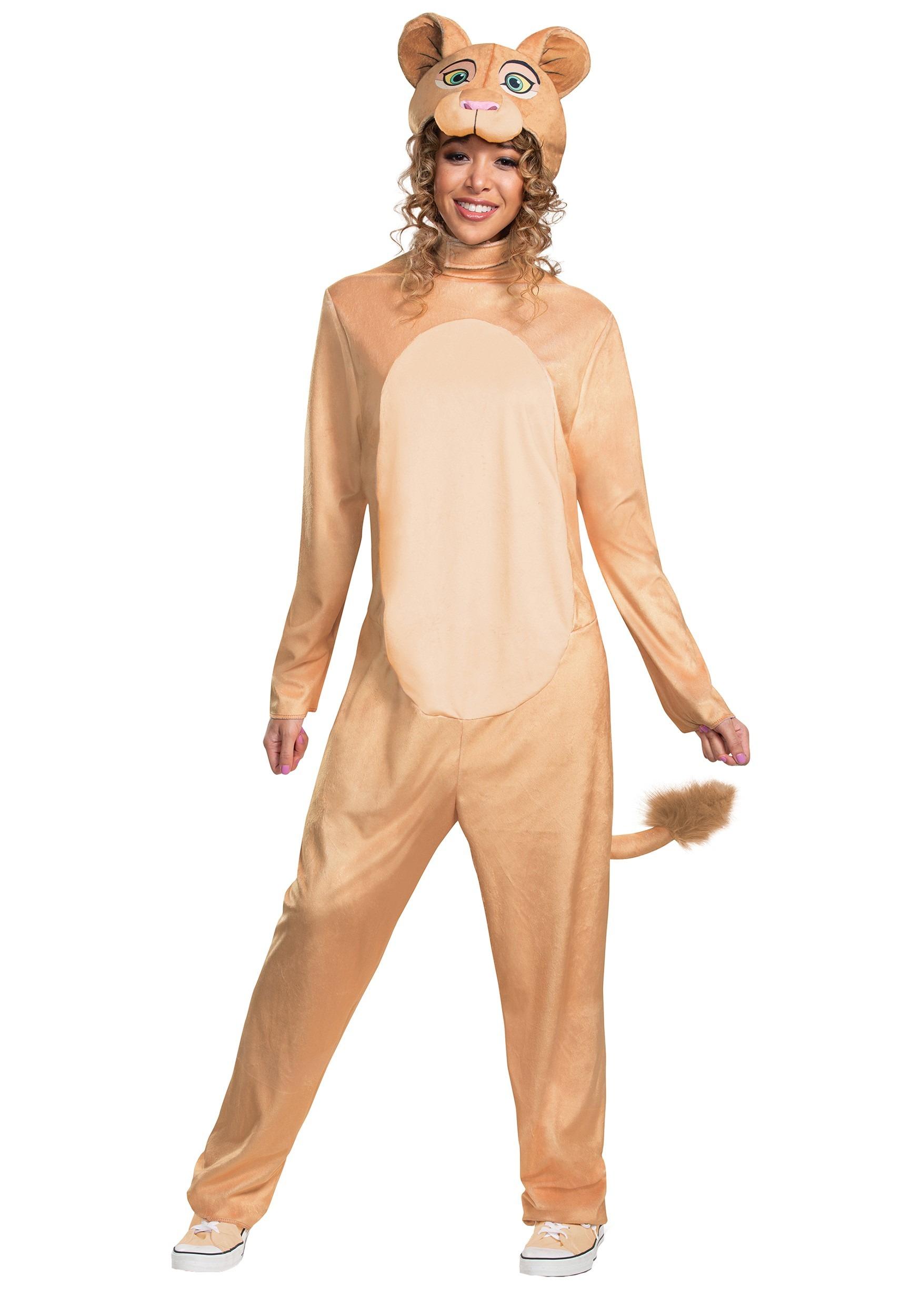 4dd437cf Disney Animated Lion King Adult Nala Jumpsuit Costume