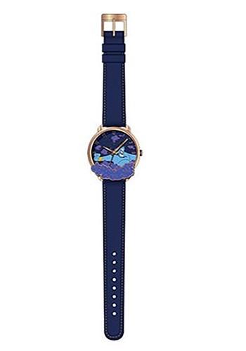 Aladdin Genie Cloud Antique Gold Finish Dial w Strap Watch