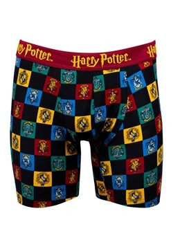 Mens Hogwarts Checkered Crest Print Boxer Briefs Alt 4