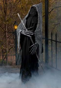 6Ft Reaper with Staff Halloween Prop