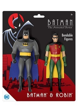 Batman Animated Series Batman & Robin Bendable Figure 2-Pack