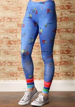 Women's Child's Play Chucky Costume Leggings1