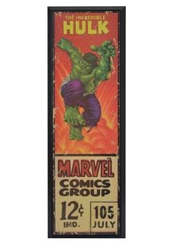 "Marvel Incredible Hulk 8"" x 27"" Framed Print Wall Art"