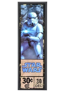 "Star Wars Stormtrooper 8"" x 27"" Framed Print Wall Art"