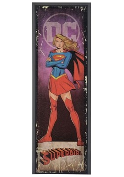 "DC Comic Supergirl 8"" x 27"" Framed Print Wall Art"