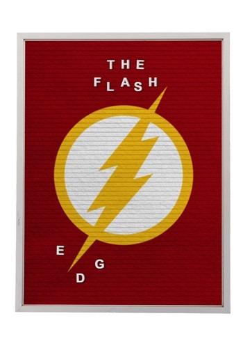 """DC Comics The Flash 13""""x17.5"""" Felt Letterboard Wall Art w/ 1"""