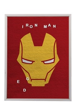 "Marvel Iron Man 13""x17.5"" Felt Letterboard Wall Art w/ 145 l"