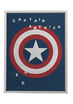 """Marvel Captain America 13""""x17.5"""" Felt Letterboard Wall Art w"""