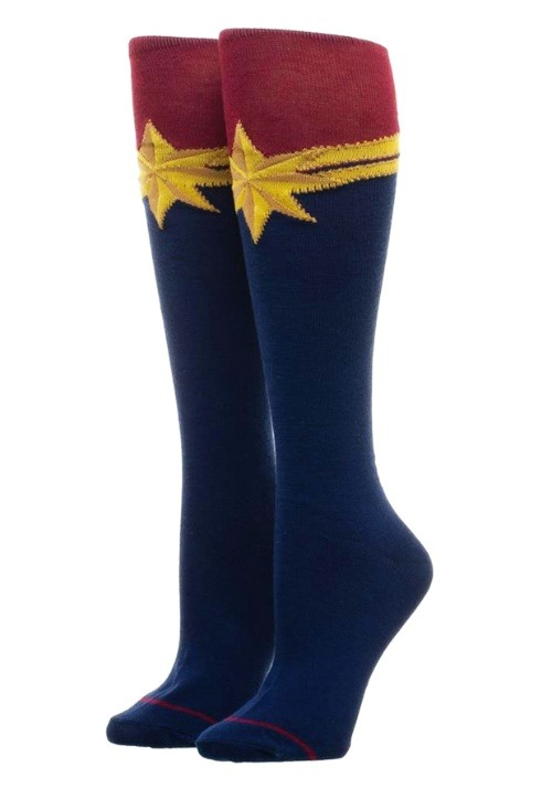 Captain Marvel Suit-Up Knee High Sock