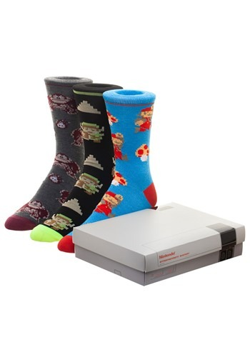 Nintendo Game Console 3 pack Crew socks