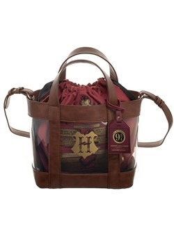Harry Potter Clear Tote With Cinch Bag