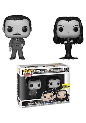 Addams Family Morticia and Gomez Black-and-White Pop! Vinyl