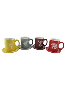 Game of Thrones Emblems and Slogans Espresso Ceramic Mug Set