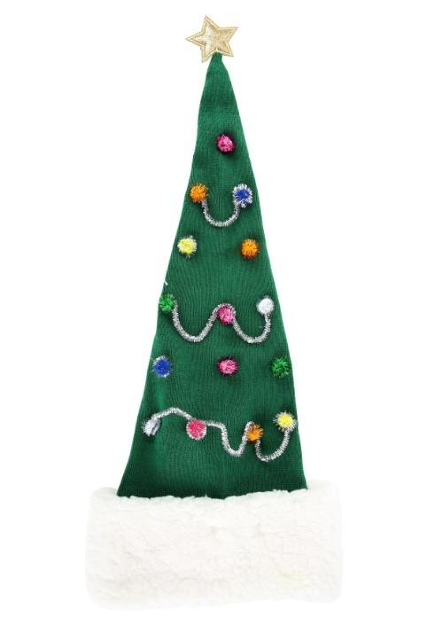 Christmas Tree Santa Cap