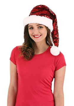 Red/Green Reversible Sequin Santa Cap