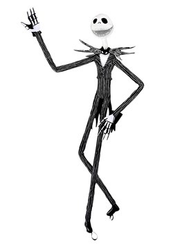 """The Nightmare Before Christmas Jack Skellington 64"""" Tall Wea"""