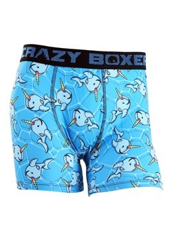 Crazy Boxers Narwhal Pool Party Men's Boxer Briefs