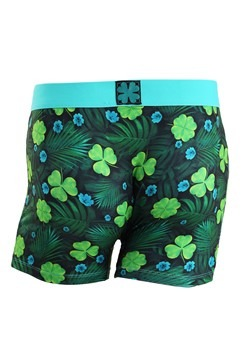 Crazy Boxers Shamrock Get Lucky Men's Boxer Briefs Alt 1