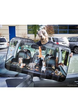 Car Full of Squirrels Auto Sunshade Alt 1