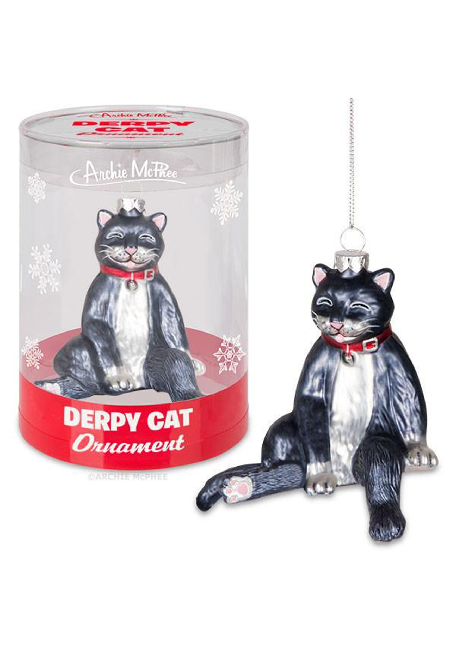 Derpy_Cat_Glass_Ornament_Accoutrements