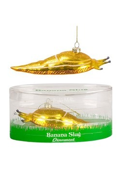 Banana Slug Glass Blown Ornament
