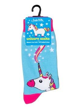 Unicorn Womens Crew Socks Alt 1
