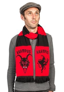 Black and Red Knitted Krampus Scarf
