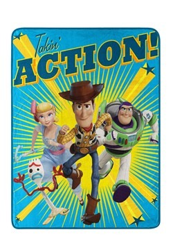 """Toy Story 4 Takin Action 40"""" x 60"""" Super Soft Throw"""