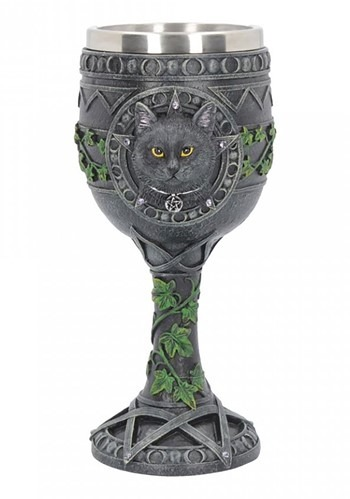 The Charmed One Cat Goblet 18cm