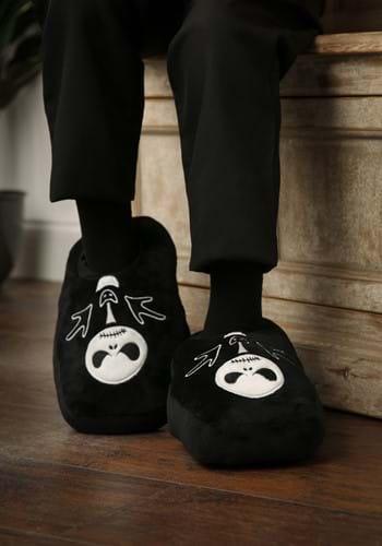 Nightmare Before Christmas Glow In The Dark Plush Slippers