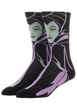 Disney Villains Maleficnet 360 Character Crew Sock