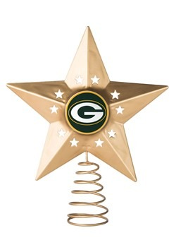 Green Bay Packers Christmas Metal Tree Topper