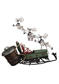 Nightmare Before Christmas Jack in Sleigh Deluxe PVC Set