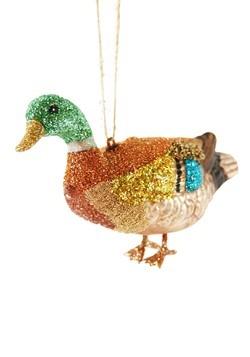 Mallard Duck Glass Ornament
