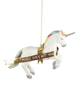 Mystic Rainbow Unicorn Christmas Ornament