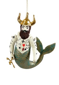 Poseidon Merman Christmas Ornament