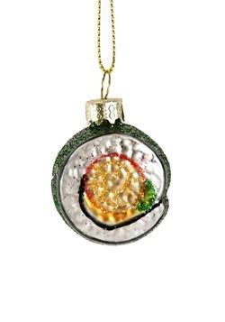 Sushi Roll Glass Ornament