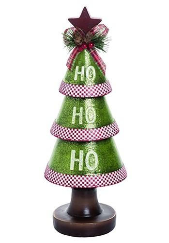 "13"" Resin Ho-Ho-Ho Christmas Tree"