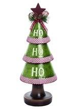 """13"""" Resin Ho-Ho-Ho Christmas Tree"""