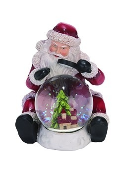 Resin Traditional Snow Globe Santa