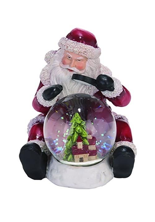 Resin Traditional Snow Globe Santa